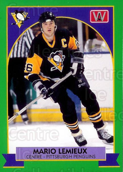 1991 All World Promos Mario Lemieux Green #1A Mario Lemieux<br/>3 In Stock - $5.00 each - <a href=https://centericecollectibles.foxycart.com/cart?name=1991%20All%20World%20Promos%20Mario%20Lemieux%20Green%20%231A%20Mario%20Lemieux...&price=$5.00&code=359093 class=foxycart> Buy it now! </a>