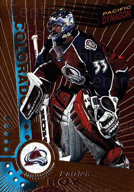1997-98 Dynagon #33 Patrick Roy<br/>3 In Stock - $5.00 each - <a href=https://centericecollectibles.foxycart.com/cart?name=1997-98%20Dynagon%20%2333%20Patrick%20Roy...&quantity_max=3&price=$5.00&code=359206 class=foxycart> Buy it now! </a>