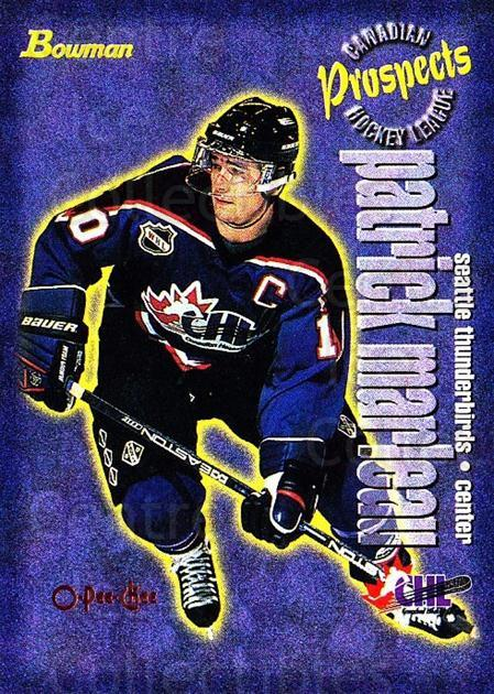 1997 Bowman CHL OPC Parallel #141 Patrick Marleau<br/>1 In Stock - $5.00 each - <a href=https://centericecollectibles.foxycart.com/cart?name=1997%20Bowman%20CHL%20OPC%20Parallel%20%23141%20Patrick%20Marleau...&quantity_max=1&price=$5.00&code=361326 class=foxycart> Buy it now! </a>