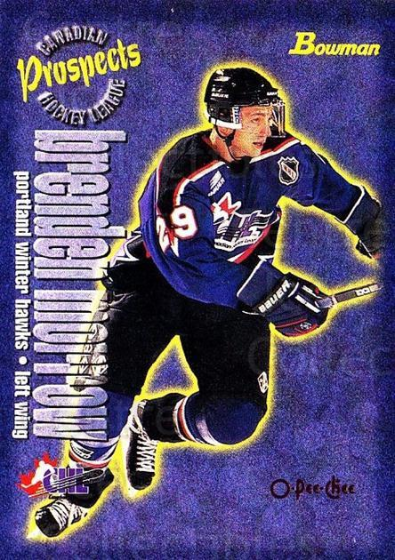 1997 Bowman CHL OPC Parallel #147 Brenden Morrow<br/>1 In Stock - $3.00 each - <a href=https://centericecollectibles.foxycart.com/cart?name=1997%20Bowman%20CHL%20OPC%20Parallel%20%23147%20Brenden%20Morrow...&quantity_max=1&price=$3.00&code=361332 class=foxycart> Buy it now! </a>