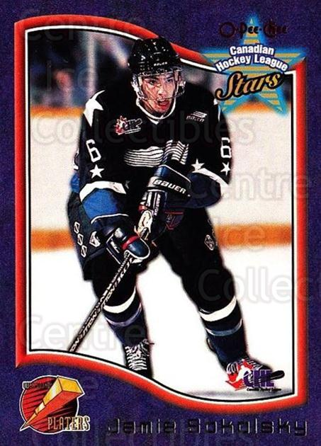 1997 Bowman CHL OPC Parallel #38 Jamie Sokolsky<br/>1 In Stock - $3.00 each - <a href=https://centericecollectibles.foxycart.com/cart?name=1997%20Bowman%20CHL%20OPC%20Parallel%20%2338%20Jamie%20Sokolsky...&quantity_max=1&price=$3.00&code=361369 class=foxycart> Buy it now! </a>