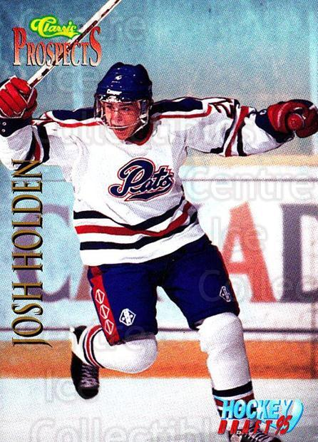 1995 Classic Hockey Draft #62 Josh Holden<br/>9 In Stock - $1.00 each - <a href=https://centericecollectibles.foxycart.com/cart?name=1995%20Classic%20Hockey%20Draft%20%2362%20Josh%20Holden...&quantity_max=9&price=$1.00&code=36190 class=foxycart> Buy it now! </a>