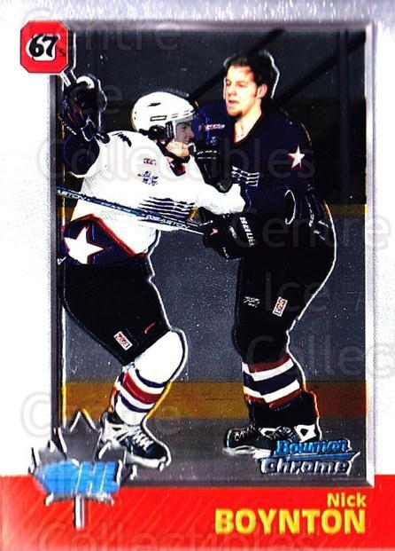 1998 Bowman CHL Chrome #27 Nick Boynton<br/>1 In Stock - $1.00 each - <a href=https://centericecollectibles.foxycart.com/cart?name=1998%20Bowman%20CHL%20Chrome%20%2327%20Nick%20Boynton...&quantity_max=1&price=$1.00&code=361915 class=foxycart> Buy it now! </a>
