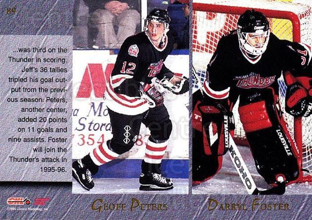1995 Classic Hockey Draft #89 Geoff Peters, Darryl Foster, Jeff Johnstone, Steve Potvin<br/>10 In Stock - $1.00 each - <a href=https://centericecollectibles.foxycart.com/cart?name=1995%20Classic%20Hockey%20Draft%20%2389%20Geoff%20Peters,%20D...&quantity_max=10&price=$1.00&code=36219 class=foxycart> Buy it now! </a>