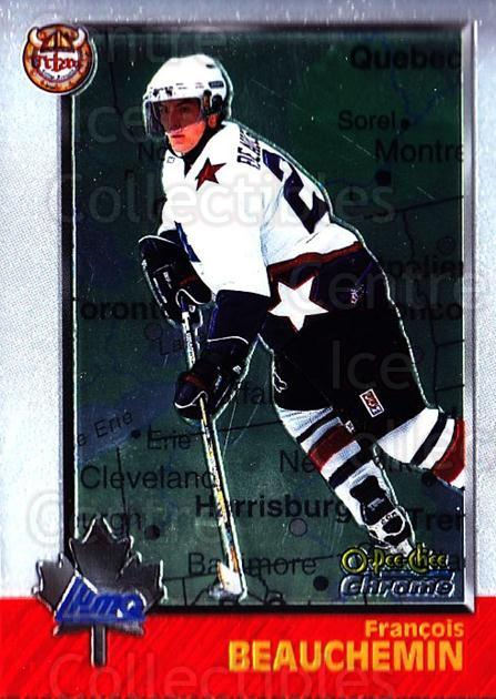 1998 Bowman CHL Chrome OPC International #92 Francois Beauchemin<br/>1 In Stock - $3.00 each - <a href=https://centericecollectibles.foxycart.com/cart?name=1998%20Bowman%20CHL%20Chrome%20OPC%20International%20%2392%20Francois%20Beauch...&quantity_max=1&price=$3.00&code=362251 class=foxycart> Buy it now! </a>