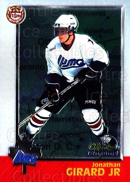 1998 Bowman CHL Chrome OPC International #97 Jonathan Girard<br/>1 In Stock - $3.00 each - <a href=https://centericecollectibles.foxycart.com/cart?name=1998%20Bowman%20CHL%20Chrome%20OPC%20International%20%2397%20Jonathan%20Girard...&quantity_max=1&price=$3.00&code=362256 class=foxycart> Buy it now! </a>