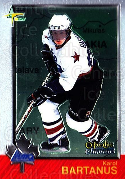 1998 Bowman CHL Chrome OPC International #98 Karol Bartanus<br/>1 In Stock - $3.00 each - <a href=https://centericecollectibles.foxycart.com/cart?name=1998%20Bowman%20CHL%20Chrome%20OPC%20International%20%2398%20Karol%20Bartanus...&quantity_max=1&price=$3.00&code=362257 class=foxycart> Buy it now! </a>