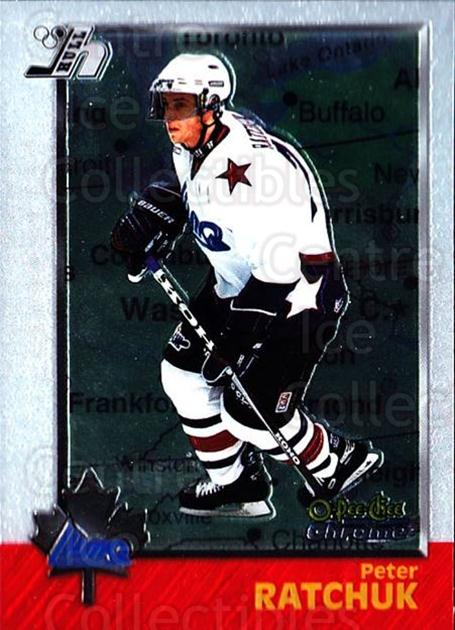 1998 Bowman CHL Chrome OPC International #99 Peter Ratchuk<br/>2 In Stock - $3.00 each - <a href=https://centericecollectibles.foxycart.com/cart?name=1998%20Bowman%20CHL%20Chrome%20OPC%20International%20%2399%20Peter%20Ratchuk...&quantity_max=2&price=$3.00&code=362258 class=foxycart> Buy it now! </a>