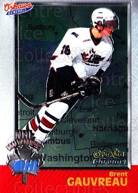1998 Bowman CHL Chrome OPC International #144 Brent Gauvreau<br/>1 In Stock - $3.00 each - <a href=https://centericecollectibles.foxycart.com/cart?name=1998%20Bowman%20CHL%20Chrome%20OPC%20International%20%23144%20Brent%20Gauvreau...&quantity_max=1&price=$3.00&code=362264 class=foxycart> Buy it now! </a>