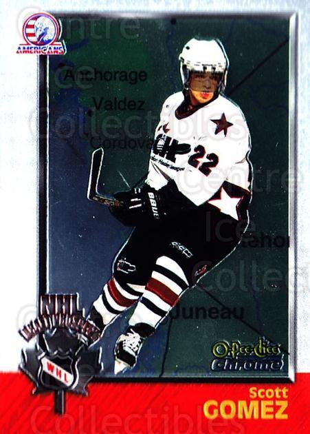 1998 Bowman CHL Chrome OPC International #145 Scott Gomez<br/>1 In Stock - $3.00 each - <a href=https://centericecollectibles.foxycart.com/cart?name=1998%20Bowman%20CHL%20Chrome%20OPC%20International%20%23145%20Scott%20Gomez...&quantity_max=1&price=$3.00&code=362265 class=foxycart> Buy it now! </a>