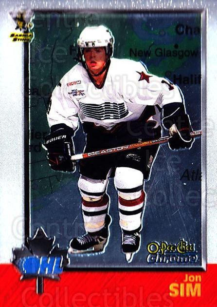 1998 Bowman CHL Chrome OPC International #15 Jon Sim<br/>1 In Stock - $3.00 each - <a href=https://centericecollectibles.foxycart.com/cart?name=1998%20Bowman%20CHL%20Chrome%20OPC%20International%20%2315%20Jon%20Sim...&quantity_max=1&price=$3.00&code=362270 class=foxycart> Buy it now! </a>