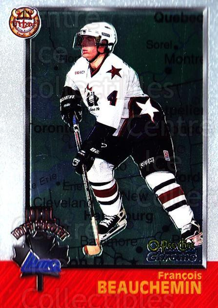 1998 Bowman CHL Chrome OPC International #153 Francois Beauchemin<br/>1 In Stock - $3.00 each - <a href=https://centericecollectibles.foxycart.com/cart?name=1998%20Bowman%20CHL%20Chrome%20OPC%20International%20%23153%20Francois%20Beauch...&quantity_max=1&price=$3.00&code=362274 class=foxycart> Buy it now! </a>