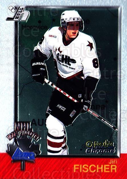 1998 Bowman CHL Chrome OPC International #155 Jiri Fischer<br/>1 In Stock - $3.00 each - <a href=https://centericecollectibles.foxycart.com/cart?name=1998%20Bowman%20CHL%20Chrome%20OPC%20International%20%23155%20Jiri%20Fischer...&quantity_max=1&price=$3.00&code=362276 class=foxycart> Buy it now! </a>