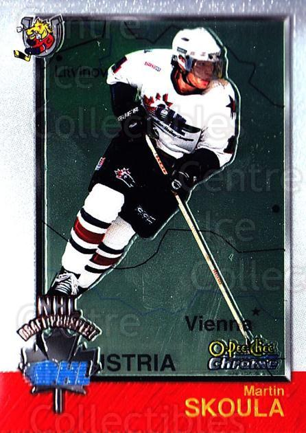 1998 Bowman CHL Chrome OPC International #158 Martin Skoula<br/>1 In Stock - $3.00 each - <a href=https://centericecollectibles.foxycart.com/cart?name=1998%20Bowman%20CHL%20Chrome%20OPC%20International%20%23158%20Martin%20Skoula...&quantity_max=1&price=$3.00&code=362279 class=foxycart> Buy it now! </a>