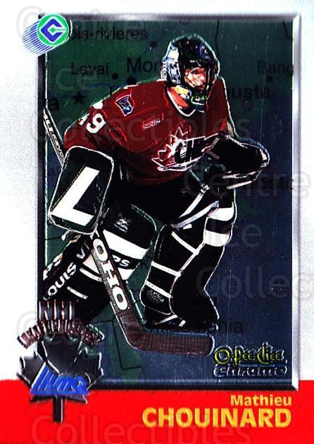1998 Bowman CHL Chrome OPC International #159 Mathieu Chouinard<br/>1 In Stock - $3.00 each - <a href=https://centericecollectibles.foxycart.com/cart?name=1998%20Bowman%20CHL%20Chrome%20OPC%20International%20%23159%20Mathieu%20Chouina...&quantity_max=1&price=$3.00&code=362280 class=foxycart> Buy it now! </a>