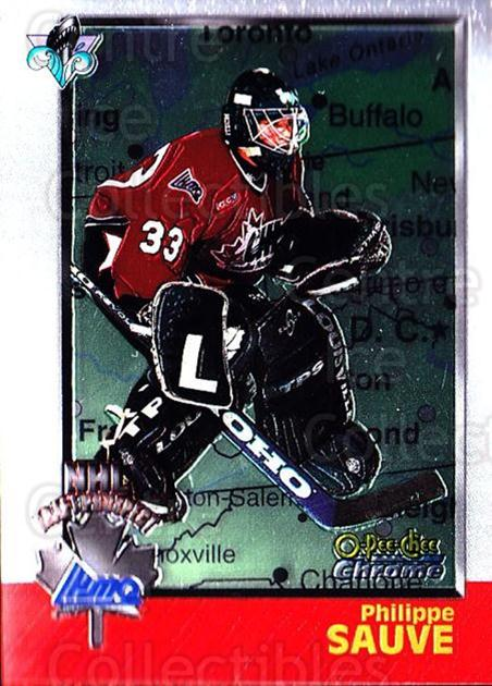 1998 Bowman CHL Chrome OPC International #160 Philippe Sauve<br/>1 In Stock - $3.00 each - <a href=https://centericecollectibles.foxycart.com/cart?name=1998%20Bowman%20CHL%20Chrome%20OPC%20International%20%23160%20Philippe%20Sauve...&quantity_max=1&price=$3.00&code=362282 class=foxycart> Buy it now! </a>