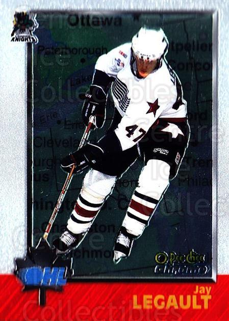 1998 Bowman CHL Chrome OPC International #20 Jay Legault<br/>1 In Stock - $3.00 each - <a href=https://centericecollectibles.foxycart.com/cart?name=1998%20Bowman%20CHL%20Chrome%20OPC%20International%20%2320%20Jay%20Legault...&quantity_max=1&price=$3.00&code=362290 class=foxycart> Buy it now! </a>
