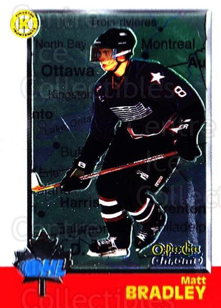 1998 Bowman CHL Chrome OPC International #28 Matt Bradley<br/>1 In Stock - $3.00 each - <a href=https://centericecollectibles.foxycart.com/cart?name=1998%20Bowman%20CHL%20Chrome%20OPC%20International%20%2328%20Matt%20Bradley...&quantity_max=1&price=$3.00&code=362297 class=foxycart> Buy it now! </a>