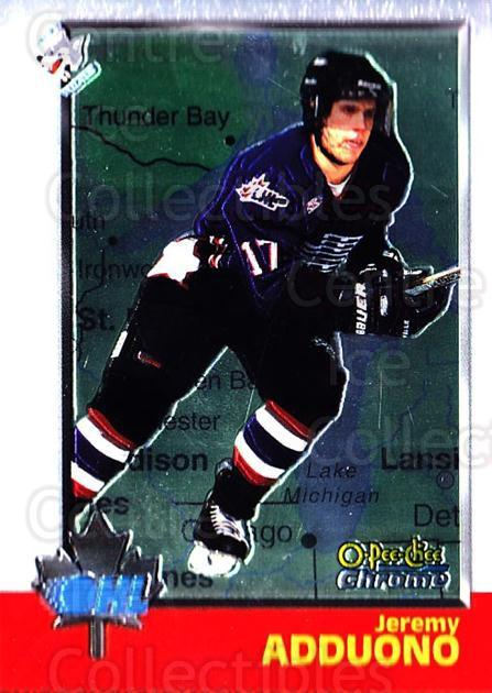 1998 Bowman CHL Chrome OPC International #29 Jeremy Adduono<br/>2 In Stock - $3.00 each - <a href=https://centericecollectibles.foxycart.com/cart?name=1998%20Bowman%20CHL%20Chrome%20OPC%20International%20%2329%20Jeremy%20Adduono...&quantity_max=2&price=$3.00&code=362298 class=foxycart> Buy it now! </a>