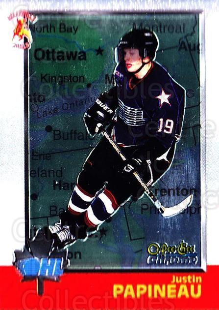 1998 Bowman CHL Chrome OPC International #31 Justin Papineau<br/>2 In Stock - $3.00 each - <a href=https://centericecollectibles.foxycart.com/cart?name=1998%20Bowman%20CHL%20Chrome%20OPC%20International%20%2331%20Justin%20Papineau...&quantity_max=2&price=$3.00&code=362301 class=foxycart> Buy it now! </a>