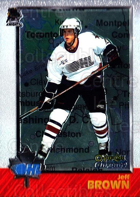 1998 Bowman CHL Chrome OPC International #4 Jeff Brown (2)<br/>1 In Stock - $3.00 each - <a href=https://centericecollectibles.foxycart.com/cart?name=1998%20Bowman%20CHL%20Chrome%20OPC%20International%20%234%20Jeff%20Brown%20(2)...&quantity_max=1&price=$3.00&code=362310 class=foxycart> Buy it now! </a>