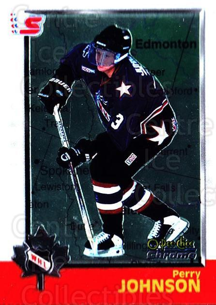 1998 Bowman CHL Chrome OPC International #44 Perry Johnson<br/>3 In Stock - $3.00 each - <a href=https://centericecollectibles.foxycart.com/cart?name=1998%20Bowman%20CHL%20Chrome%20OPC%20International%20%2344%20Perry%20Johnson...&quantity_max=3&price=$3.00&code=362315 class=foxycart> Buy it now! </a>