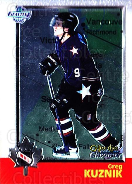 1998 Bowman CHL Chrome OPC International #47 Greg Kuznik<br/>1 In Stock - $3.00 each - <a href=https://centericecollectibles.foxycart.com/cart?name=1998%20Bowman%20CHL%20Chrome%20OPC%20International%20%2347%20Greg%20Kuznik...&quantity_max=1&price=$3.00&code=362318 class=foxycart> Buy it now! </a>