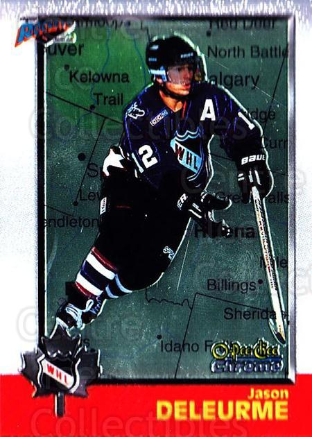1998 Bowman CHL Chrome OPC International #49 Jason Deleurme<br/>1 In Stock - $3.00 each - <a href=https://centericecollectibles.foxycart.com/cart?name=1998%20Bowman%20CHL%20Chrome%20OPC%20International%20%2349%20Jason%20Deleurme...&quantity_max=1&price=$3.00&code=362320 class=foxycart> Buy it now! </a>
