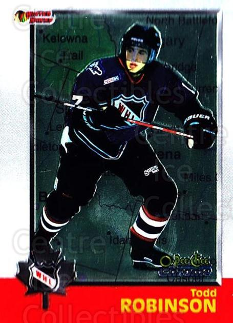 1998 Bowman CHL Chrome OPC International #52 Todd Robinson<br/>1 In Stock - $3.00 each - <a href=https://centericecollectibles.foxycart.com/cart?name=1998%20Bowman%20CHL%20Chrome%20OPC%20International%20%2352%20Todd%20Robinson...&quantity_max=1&price=$3.00&code=362324 class=foxycart> Buy it now! </a>