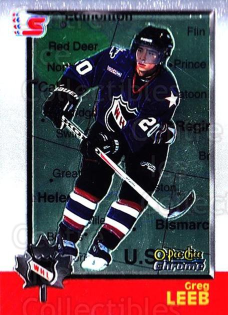 1998 Bowman CHL Chrome OPC International #55 Greg Leeb<br/>1 In Stock - $3.00 each - <a href=https://centericecollectibles.foxycart.com/cart?name=1998%20Bowman%20CHL%20Chrome%20OPC%20International%20%2355%20Greg%20Leeb...&quantity_max=1&price=$3.00&code=362327 class=foxycart> Buy it now! </a>