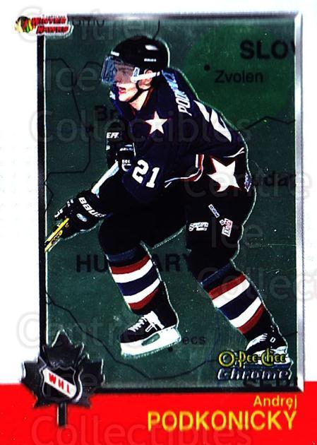 1998 Bowman CHL Chrome OPC International #56 Andrei Podkonicky<br/>1 In Stock - $3.00 each - <a href=https://centericecollectibles.foxycart.com/cart?name=1998%20Bowman%20CHL%20Chrome%20OPC%20International%20%2356%20Andrei%20Podkonic...&quantity_max=1&price=$3.00&code=362328 class=foxycart> Buy it now! </a>