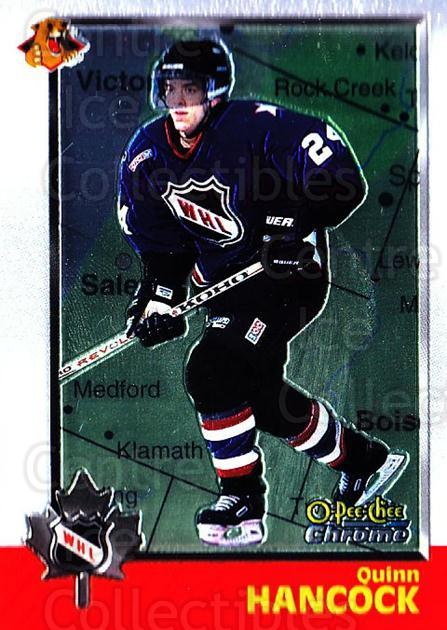 1998 Bowman CHL Chrome OPC International #57 Quinn Hancock<br/>1 In Stock - $3.00 each - <a href=https://centericecollectibles.foxycart.com/cart?name=1998%20Bowman%20CHL%20Chrome%20OPC%20International%20%2357%20Quinn%20Hancock...&quantity_max=1&price=$3.00&code=362329 class=foxycart> Buy it now! </a>
