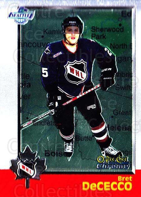 1998 Bowman CHL Chrome OPC International #59 Bret DeCecco<br/>1 In Stock - $3.00 each - <a href=https://centericecollectibles.foxycart.com/cart?name=1998%20Bowman%20CHL%20Chrome%20OPC%20International%20%2359%20Bret%20DeCecco...&quantity_max=1&price=$3.00&code=362331 class=foxycart> Buy it now! </a>