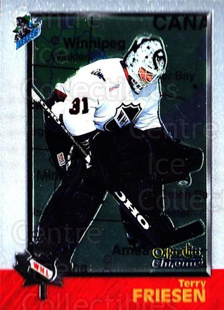 1998 Bowman CHL Chrome OPC International #62 Terry Friesen<br/>3 In Stock - $3.00 each - <a href=https://centericecollectibles.foxycart.com/cart?name=1998%20Bowman%20CHL%20Chrome%20OPC%20International%20%2362%20Terry%20Friesen...&quantity_max=3&price=$3.00&code=362335 class=foxycart> Buy it now! </a>