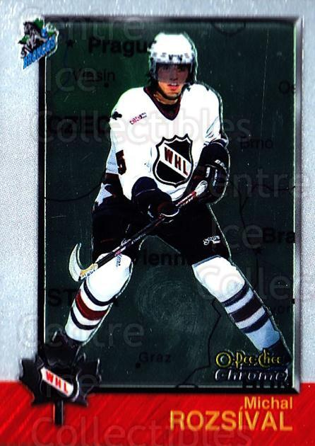 1998 Bowman CHL Chrome OPC International #64 Michal Rozsival<br/>2 In Stock - $3.00 each - <a href=https://centericecollectibles.foxycart.com/cart?name=1998%20Bowman%20CHL%20Chrome%20OPC%20International%20%2364%20Michal%20Rozsival...&quantity_max=2&price=$3.00&code=362337 class=foxycart> Buy it now! </a>