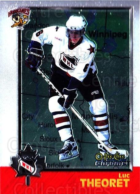1998 Bowman CHL Chrome OPC International #65 Luc Theoret<br/>1 In Stock - $3.00 each - <a href=https://centericecollectibles.foxycart.com/cart?name=1998%20Bowman%20CHL%20Chrome%20OPC%20International%20%2365%20Luc%20Theoret...&quantity_max=1&price=$3.00&code=362338 class=foxycart> Buy it now! </a>