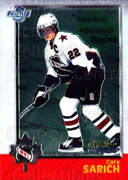 1998 Bowman CHL Chrome OPC International #68 Cory Sarich<br/>3 In Stock - $3.00 each - <a href=https://centericecollectibles.foxycart.com/cart?name=1998%20Bowman%20CHL%20Chrome%20OPC%20International%20%2368%20Cory%20Sarich...&quantity_max=3&price=$3.00&code=362341 class=foxycart> Buy it now! </a>
