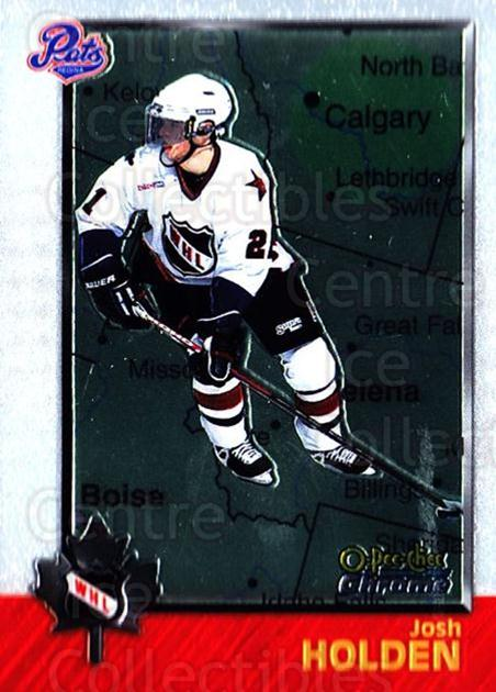 1998 Bowman CHL Chrome OPC International #73 Josh Holden<br/>1 In Stock - $3.00 each - <a href=https://centericecollectibles.foxycart.com/cart?name=1998%20Bowman%20CHL%20Chrome%20OPC%20International%20%2373%20Josh%20Holden...&quantity_max=1&price=$3.00&code=362347 class=foxycart> Buy it now! </a>