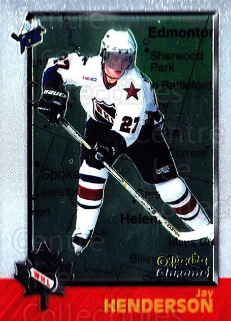 1998 Bowman CHL Chrome OPC International #77 Jay Henderson<br/>1 In Stock - $3.00 each - <a href=https://centericecollectibles.foxycart.com/cart?name=1998%20Bowman%20CHL%20Chrome%20OPC%20International%20%2377%20Jay%20Henderson...&quantity_max=1&price=$3.00&code=362351 class=foxycart> Buy it now! </a>