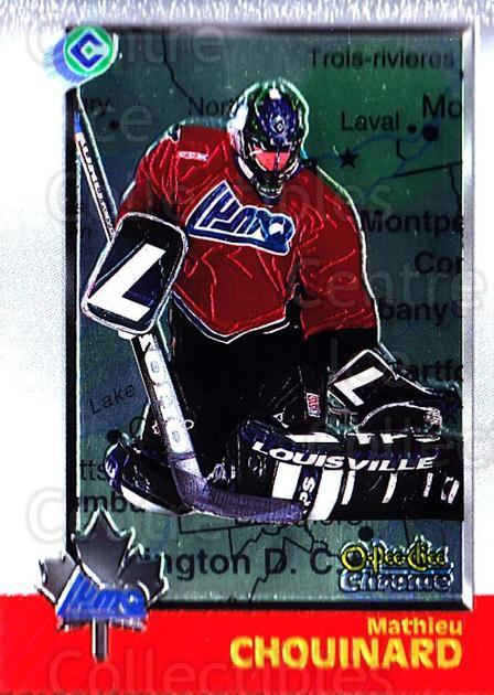 1998 Bowman CHL Chrome OPC International #82 Mathieu Chouinard<br/>1 In Stock - $3.00 each - <a href=https://centericecollectibles.foxycart.com/cart?name=1998%20Bowman%20CHL%20Chrome%20OPC%20International%20%2382%20Mathieu%20Chouina...&quantity_max=1&price=$3.00&code=362357 class=foxycart> Buy it now! </a>