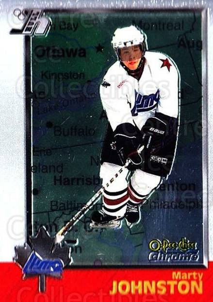 1998 Bowman CHL Chrome OPC International #86 Marty Johnston<br/>2 In Stock - $3.00 each - <a href=https://centericecollectibles.foxycart.com/cart?name=1998%20Bowman%20CHL%20Chrome%20OPC%20International%20%2386%20Marty%20Johnston...&quantity_max=2&price=$3.00&code=362360 class=foxycart> Buy it now! </a>