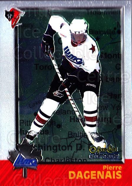 1998 Bowman CHL Chrome OPC International #100 Pierre Dagenais<br/>2 In Stock - $3.00 each - <a href=https://centericecollectibles.foxycart.com/cart?name=1998%20Bowman%20CHL%20Chrome%20OPC%20International%20%23100%20Pierre%20Dagenais...&quantity_max=2&price=$3.00&code=362369 class=foxycart> Buy it now! </a>