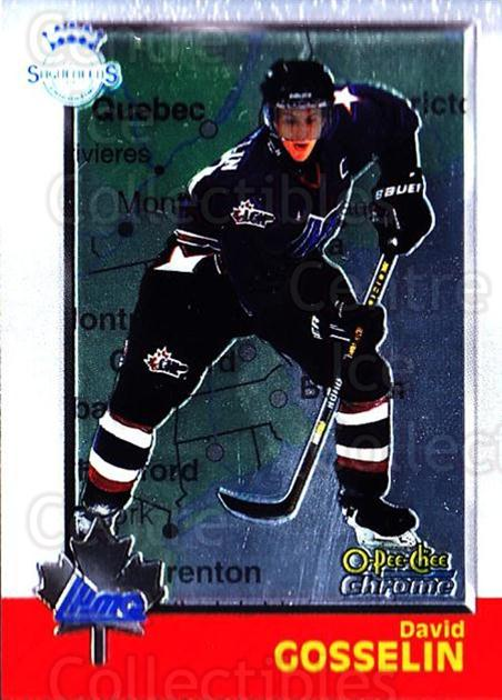 1998 Bowman CHL Chrome OPC International #109 David Gosselin<br/>3 In Stock - $3.00 each - <a href=https://centericecollectibles.foxycart.com/cart?name=1998%20Bowman%20CHL%20Chrome%20OPC%20International%20%23109%20David%20Gosselin...&quantity_max=3&price=$3.00&code=362378 class=foxycart> Buy it now! </a>