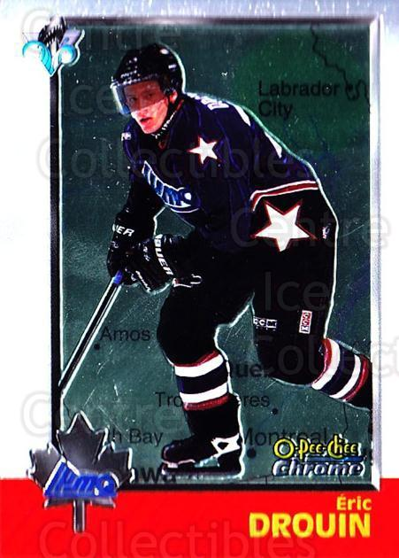1998 Bowman CHL Chrome OPC International #111 Eric Drouin<br/>1 In Stock - $3.00 each - <a href=https://centericecollectibles.foxycart.com/cart?name=1998%20Bowman%20CHL%20Chrome%20OPC%20International%20%23111%20Eric%20Drouin...&quantity_max=1&price=$3.00&code=362380 class=foxycart> Buy it now! </a>
