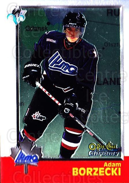 1998 Bowman CHL Chrome OPC International #120 Adam Borzecki<br/>1 In Stock - $3.00 each - <a href=https://centericecollectibles.foxycart.com/cart?name=1998%20Bowman%20CHL%20Chrome%20OPC%20International%20%23120%20Adam%20Borzecki...&quantity_max=1&price=$3.00&code=362390 class=foxycart> Buy it now! </a>