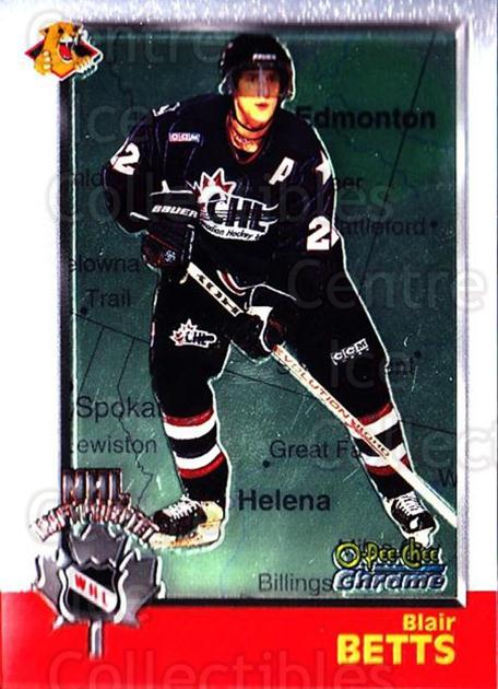 1998 Bowman CHL Chrome OPC International #124 Blair Betts<br/>2 In Stock - $3.00 each - <a href=https://centericecollectibles.foxycart.com/cart?name=1998%20Bowman%20CHL%20Chrome%20OPC%20International%20%23124%20Blair%20Betts...&quantity_max=2&price=$3.00&code=362394 class=foxycart> Buy it now! </a>