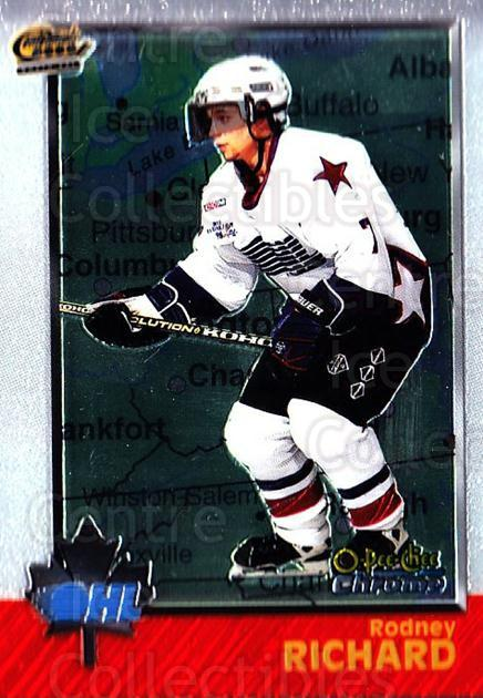 1998 Bowman CHL Chrome OPC International #13 Rodney Richard<br/>2 In Stock - $3.00 each - <a href=https://centericecollectibles.foxycart.com/cart?name=1998%20Bowman%20CHL%20Chrome%20OPC%20International%20%2313%20Rodney%20Richard...&quantity_max=2&price=$3.00&code=362400 class=foxycart> Buy it now! </a>