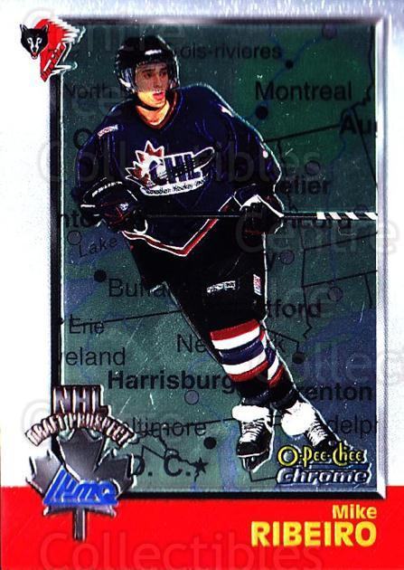 1998 Bowman CHL Chrome OPC International #132 Mike Ribeiro<br/>1 In Stock - $3.00 each - <a href=https://centericecollectibles.foxycart.com/cart?name=1998%20Bowman%20CHL%20Chrome%20OPC%20International%20%23132%20Mike%20Ribeiro...&quantity_max=1&price=$3.00&code=362402 class=foxycart> Buy it now! </a>