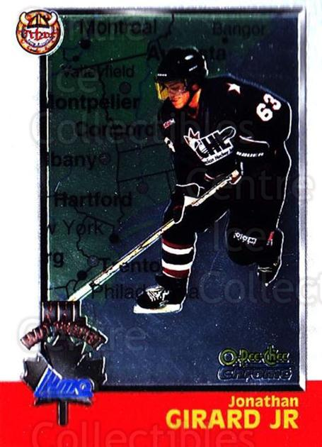 1998 Bowman CHL Chrome OPC International #135 Jonathan Girard<br/>1 In Stock - $3.00 each - <a href=https://centericecollectibles.foxycart.com/cart?name=1998%20Bowman%20CHL%20Chrome%20OPC%20International%20%23135%20Jonathan%20Girard...&quantity_max=1&price=$3.00&code=362405 class=foxycart> Buy it now! </a>