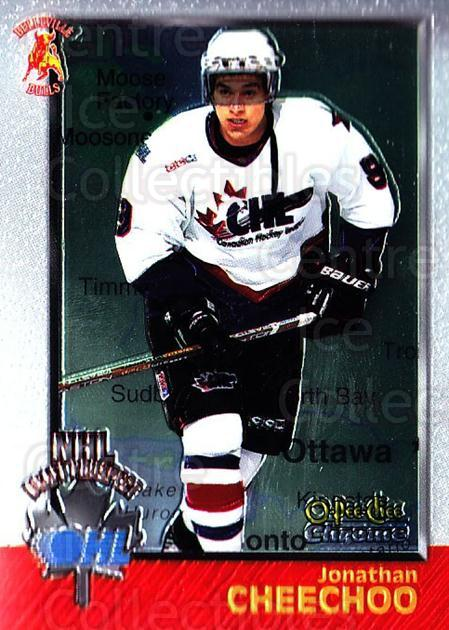 1998 Bowman CHL Chrome OPC International #142 Jonathan Cheechoo<br/>1 In Stock - $3.00 each - <a href=https://centericecollectibles.foxycart.com/cart?name=1998%20Bowman%20CHL%20Chrome%20OPC%20International%20%23142%20Jonathan%20Cheech...&quantity_max=1&price=$3.00&code=362413 class=foxycart> Buy it now! </a>